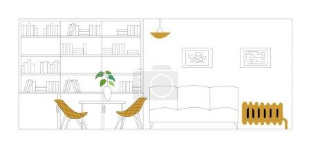 Illustration pour Plan d'appartement vectoriel architectural - image libre de droit
