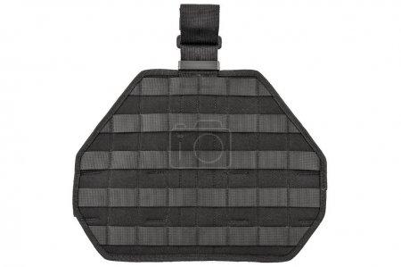 Foto de Llevar armas caso: correa táctica militar del cartucho para bolsa hecha de tela de alta tecnología con sistema de conexión rápida, cierre arriba, aislado - Imagen libre de derechos