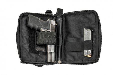 Photo pour Sac tactique de la ville pour les armes comptables cachés avec une arme à feu à l'intérieur - image libre de droit
