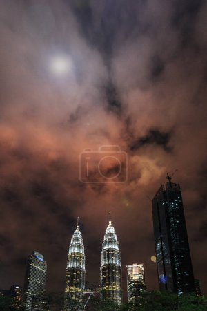 Photo for Kuala Lumpur by night. The most beautiful skyline over the Twin Petronas Towers. - Royalty Free Image