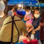 Koh Samui, Thailand - 30 March 2020:  Street vendo...