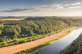 Řeka Labe v Labských pískovcích