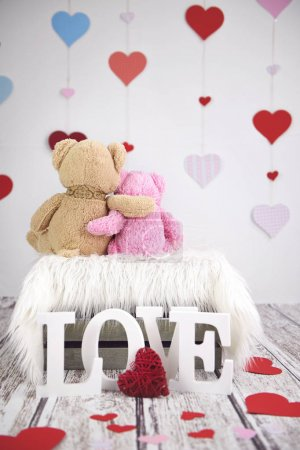 Two toy teddy bears