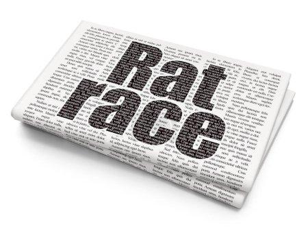 Politics concept: Rat Race on Newspaper background