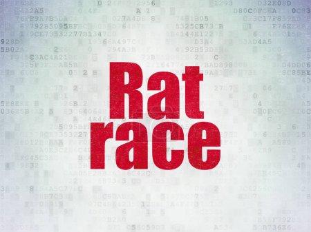Politics concept: Rat Race on Digital Data Paper background