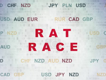 Business concept: Rat Race on Digital Data Paper background