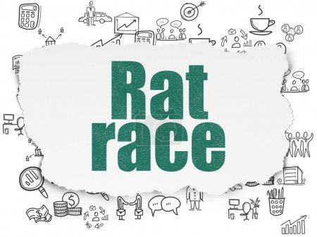 Finance concept: Rat Race on Torn Paper background
