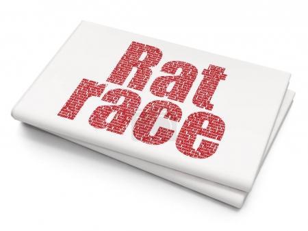 Politics concept: Rat Race on Blank Newspaper background