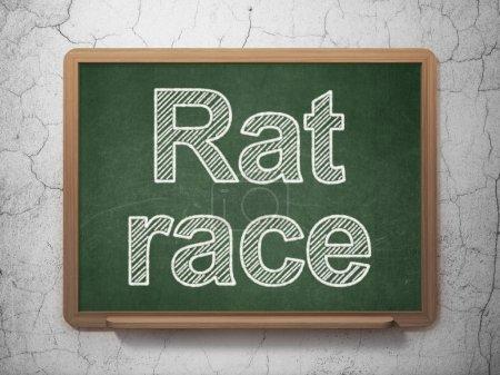 Business concept: Rat Race on chalkboard background