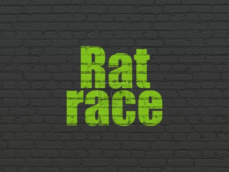Politics concept: Rat Race on wall background