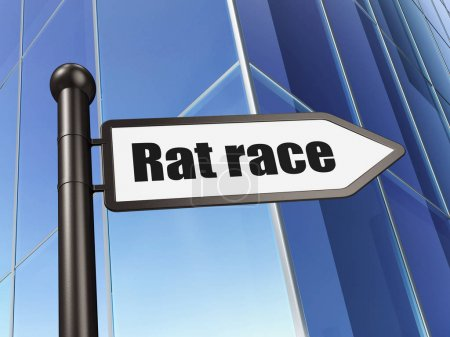 Politics concept: sign Rat Race on Building background