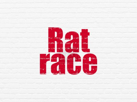Finance concept: Rat Race on wall background