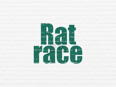 Business concept: Rat Race on wall background
