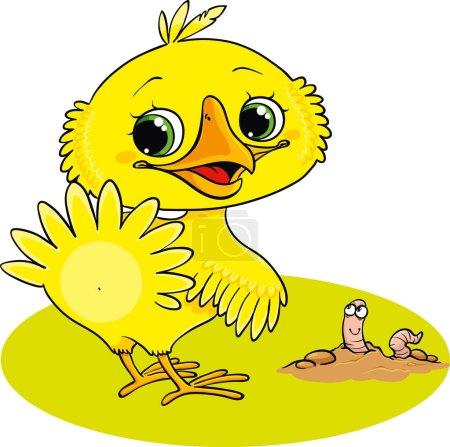 Illustration pour Illustration du petit poulet jaune - image libre de droit