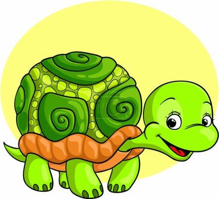 Illustration pour Illustration de la tortue verte - image libre de droit