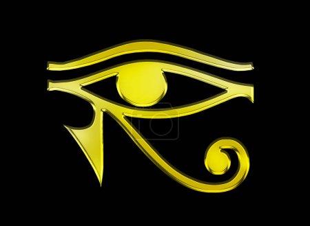 Photo pour Œil d'horus symbole égyptien - image libre de droit