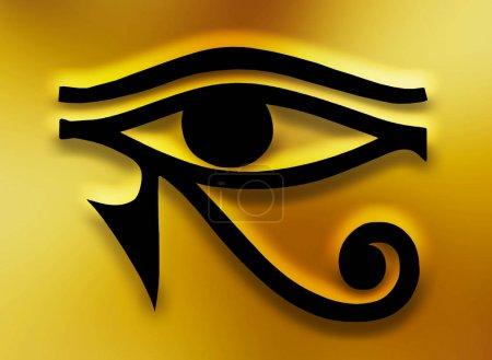 Photo pour Oeil du symbole égyptien horus - image libre de droit