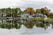 Autumn Color the Chesapeake Bay Shore and Harbor in St Michaels