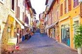 Lago di Garda town of Sirmione colorful street view