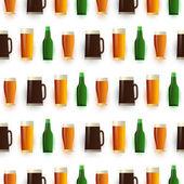 pattern of Beer bottlesmugsglasses