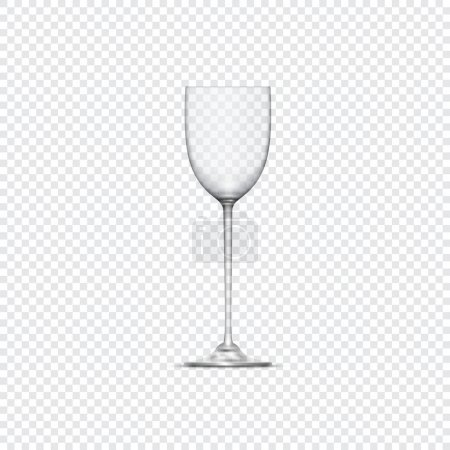 Transparent realistic empty glass