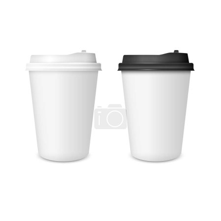 Realistic two paper Coffee Cup