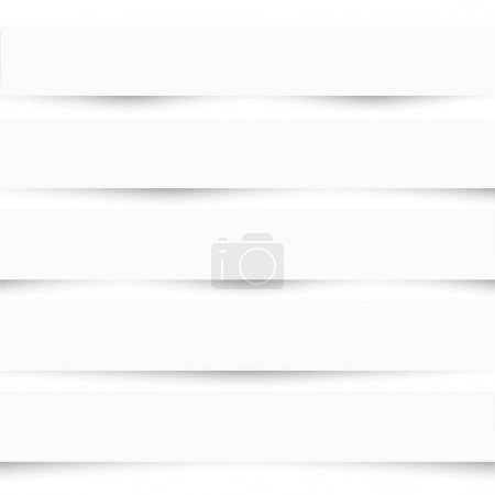Illustration for Collection of white note papers with different shadows. Paper templates. Paper separators, dividers,banners. Vector set - Royalty Free Image