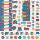 Big set of web design elements vector illustration