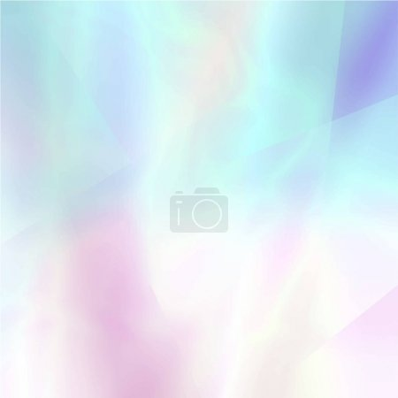 Illustration for Abstract blurred holographic background in light colors - Royalty Free Image