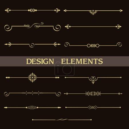decorative vintage golden dividers