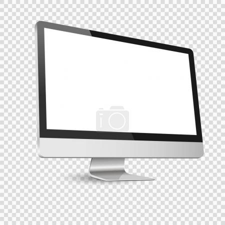 Modern computer display isolated