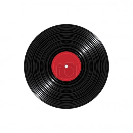 Vinyl disk record isolated