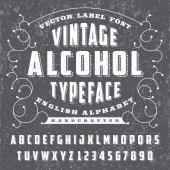 Vintage Alcohol typeface - Vector font for labels and any type designs