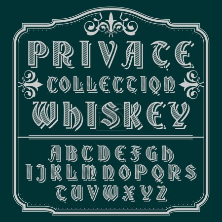 Private Collection Whiskey typeface