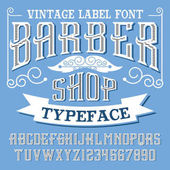 Barber Shop Handcrafted vintage font Vector typeface for labels and any type designsBarber Shop Handcrafted vintage font Vector typeface for labels and any type designs