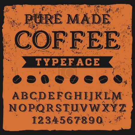 Vintage Coffee typeface