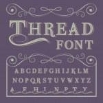Handwritten calligraphy Thread font - vintage type...