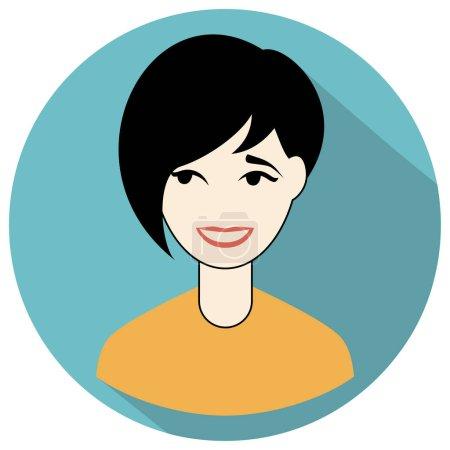 Black hair woman icon