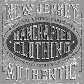 Original vintage garments label