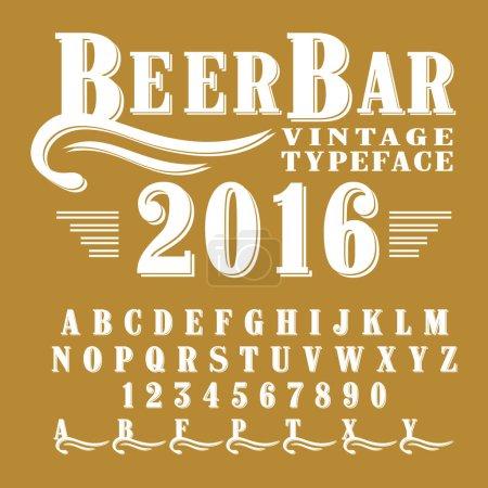 Beer Bar - vintage script font