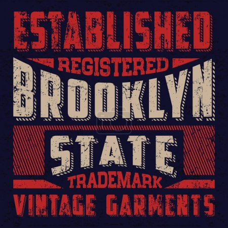 Illustration for Vintage college tee print design - vector typography - Royalty Free Image