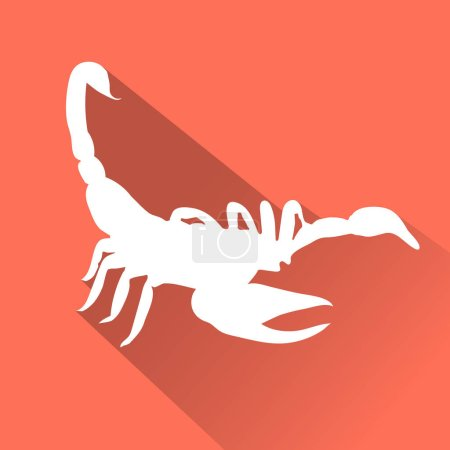 Illustration for Animal flat icon, vector illustration, Scorpion - Royalty Free Image