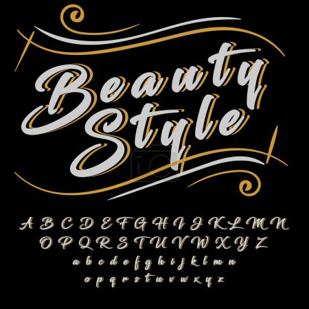 Beauty style typeface