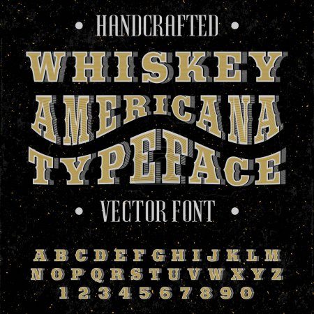 Handcrafted font for alcohol drinks