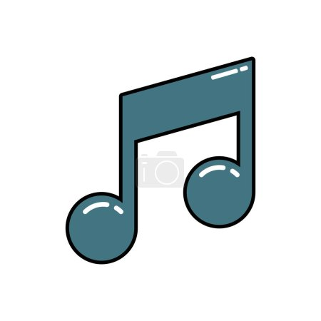 Vector illustration of music note icon...