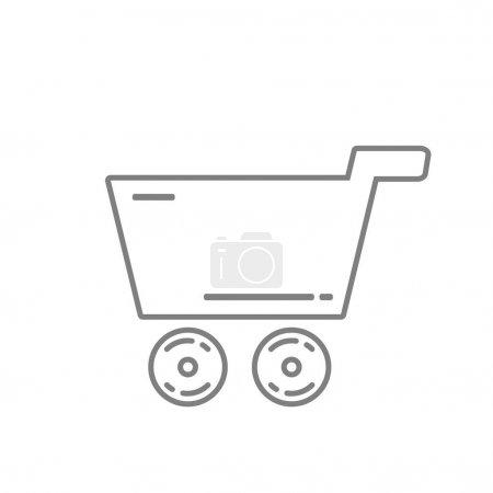 Illustration pour Icône de ligne de panier, design vectoriel - image libre de droit