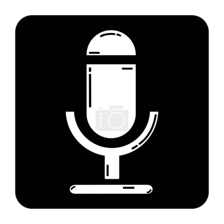 silhouette of microphone in black color