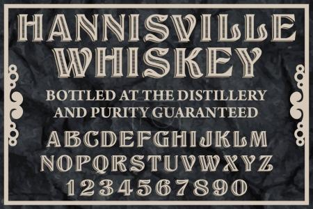 Whiskey Label typeface