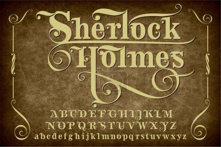 Sherlock Holmes - vintage ornamental font...
