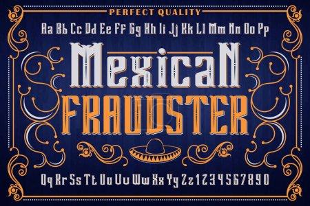 Vintage ornamental font for cafe decoration